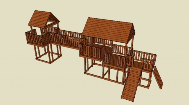 Ryan designed a playset big and sturdy enough for all of us