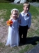 Flower Girl and Greeter in cousin's wedding - May, 2009.